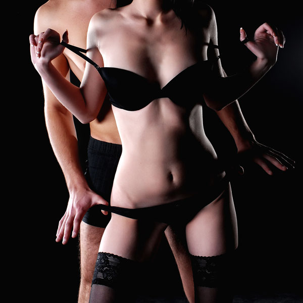 passion couple in lingerie