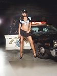 Mesh Top, Skirt, Belt, Badge & Headwear Set